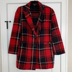 NWOT! Hers & Mine - Red & Black Plaid Coat